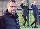 .27.12.15...... Coronation Streets Michael Le Vell and his girlfriend Louise Gibbons both turn up to watch The Allstar Football match on Sunday wearing riding gear.