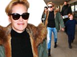 Sharon Stone was spotted returning to LA with her son Laird.  The actress is also enjoying her role as the Vice President in the program Agent X.  Monday, December 28, 2015 X17online.com
