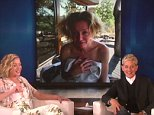 """The one and only Portia de Rossi stopped by to visit with her favorite roommate, and Ellen shared some surprise snaps of the """"Scandal"""" star!"""