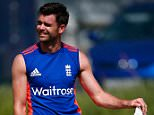 CAPE TOWN, SOUTH AFRICA - JANUARY 01:  James Anderson of England prepares for a bat in the nets during England media access at Newlands on January 1, 2016 in Cape Town, South Africa.  (Photo by Julian Finney/Getty Images)