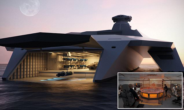 Royal Navy could soon be using remote-controlled warships with 'see-through' hulls