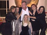 Jeremy Clarkson with: Jemima Khan (elft) Kate Rothschild (second right) and Martha Ward (front) Instagram