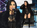 NEW YORK, NY - DECEMBER 31:  Singer Demi Lovato performs a medley of 'Cool For The Summer' and 'Confident' on stage at the Dick Clark's New Year's Rockin' Eve with Ryan Seacrest 2016 on December 31, 2015 in New York City.  (Photo by Nicholas Hunt/Getty Images)