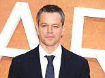 """LONDON, ENGLAND - SEPTEMBER 24:  Matt Damon attends the European premiere of """"The Martian"""" at Odeon Leicester Square on September 24, 2015 in London, England.  (Photo by Dave J Hogan/Getty Images)"""