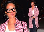 Rihanna was spotted out for dinner at Nobu in NYC on Saturday. She stunned in a Red Checkered coat, with black pinstripe pants and a thin white halter top. She wore her favorite pair of Secretary style glasses as she arrived to the pricey restaurant with a few pals.\n\nPictured: Rihanna\nRef: SPL1202527  020116  \nPicture by: 247PAPS.TV / Splash News\n\nSplash News and Pictures\nLos Angeles: 310-821-2666\nNew York: 212-619-2666\nLondon: 870-934-2666\nphotodesk@splashnews.com\n