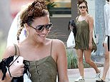 02 Jan 2015 - Miami - USA\n*** STRICTLY AVAILABLE FOR UK AND GERMANY USE ONLY ***\nCaroline Flack gossips with friends while out and about at Lincoln Mall. The X Factor presenter wore an olive green baby doll dress, a leopard head scarf, white sneakers, and Saint Laurent bag after a day at the pool. \nBYLINE MUST READ : AKM-GSI-XPOSUREPHOTOS.COM\n***UK CLIENTS - PICTURES CONTAINING CHILDREN PLEASE PIXELATE FACE PRIOR TO PUBLICATION ***\n*UK CLIENTS MUST CALL PRIOR TO TV OR ONLINE USAGE PLEASE TELEPHONE 0208 344 2007*\n