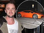 3JAN.2016 - LOS ANGELES - USA\n*STRICTLY AVAILABLE FOR UK AND GERMANY USE ONLY*\nBritish Actor Tom Felton leaves a dinner date at Craig's Restaurant in West Hollywood. The actor, who is best known for his role as 'Draco Malfoy' in 'Harry Potter', showed off his new orange Lamborghini on his was out of the restaurant\nBYLINE MUST READ : AKM-GSI/XPOSUREPHOTOS.COM\n***UK CLIENTS - PICTURES CONTAINING CHILDREN PLEASE PIXELATE FACE PRIOR TO PUBLICATION ***\n*UK CLIENTS MUST CALL PRIOR TO TV OR ONLINE USAGE PLEASE TELEPHONE 0208 344 2007*