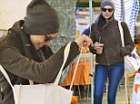 Laura Prepon shops for fresh produce at the Venice Beach Farmers Market. The 'Orange Is the New Black' star was dressed in a brown military style coat, suede Chanel boots and carried a black Gucci handbag\nFeaturing: Laura Prepon\nWhere: Venice, California, United States\nWhen: 03 Jan 2016\nCredit: VALPO NNEWs/WENN.com
