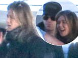 Picture Shows: Justin Theroux, Jennifer Aniston  January 02, 2016\n \n Married couple Jennifer Aniston and Justin Theroux were spotted getting off a private jet after they had landed in Van Nuys, California. The two were returning back to California after visiting Telluride Ski Resort in Colorado.\n \n Exclusive All Rounder\n UK RIGHTS ONLY\n \n Pictures by : FameFlynet UK © 2016\n Tel : +44 (0)20 3551 5049\n Email : info@fameflynet.uk.com