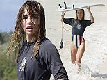 3 Jan 2016  - BARBADOS  - BARBADOS\n*** EXCLUSIVE PICTURES - MUST CALL FOR PRICING - STRICTLY NO WEB USAGE - FOR UK NEWSPAPERS ONLY ***\nBRITISH CARA DELEVINGNE WITH GIRLFRIEND ST. VINCENT ALONG WITH SUKI WATERHOUSE AND HER FAMILY GO SURFING IN THE SOUTH OF BARBADOS. CARA AND SUKI SHOWED OFF THEIR SKILLS AS THEY RODE THE WAVES! CARA'S GIRLFRIEND WAS ALSO SURFING BUT WASNT SO KEEN TO CARRY ON AFTER FALLING HEAD FIRST INTO THE WATER! CARA AND HER GIRLFRIEND LOOKED TO BE VERY MUCH IN LOVE AS CARA TAUGHT HER THE ROPES! \nBYLINE MUST READ : XPOSUREPHOTOS.COM\n***UK CLIENTS - PICTURES CONTAINING CHILDREN PLEASE PIXELATE FACE PRIOR TO PUBLICATION ***\n**UK CLIENTS MUST CALL PRIOR TO TV OR ONLINE USAGE PLEASE TELEPHONE  442083442007