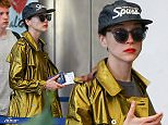 EXCLUSIVE: January 2nd 2015: Cara Delevingne's girlfriend St. Vincent is seen departing Barbados airport by herself. St. Vincent seemed to be teary-eyed while waiting in line. \n\nPictured: St Vincent\nRef: SPL1202312  030116   EXCLUSIVE\nPicture by: PRIMADONNA/GEMAIRA/Splash News\n\nSplash News and Pictures\nLos Angeles: 310-821-2666\nNew York: 212-619-2666\nLondon: 870-934-2666\nphotodesk@splashnews.com\n
