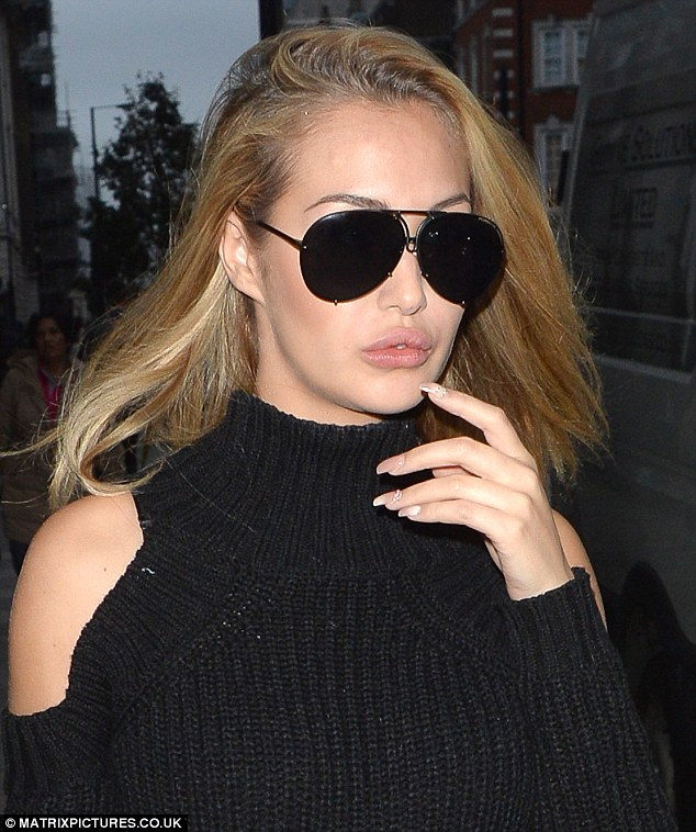 Chilled vibes: Chloe appeared to be in relaxed and content spirits  during the low-key outing
