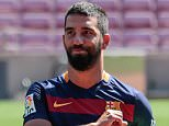 Mandatory Credit: Photo by Miquel Benitez/REX/Shutterstock (4900455j)  Arda Turan  Arda Turan unveiled at Barcelona Football Club, Nou Camp, Spain - 10 Jul 2015