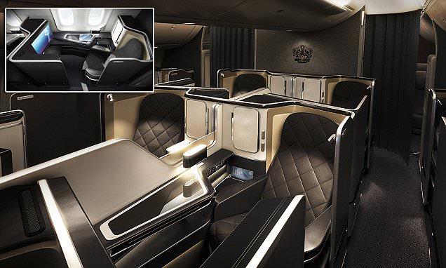 British Airways' unveils swanky designs of Dreamliner's first-class cabin
