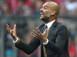 MUNICH, GERMANY - OCTOBER 04:  Team coach Josep Guardiola of Bayern Muenchen reacts during the Bundesliga match between FC Bayern Muenchen and Borussia Dortmund at Allianz Arena on October 4, 2015 in Munich, Germany.  (Photo by A. Beier/Getty Images for FC Bayern)
