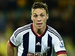 """West Bromwich Albion's James Chester during the Capital One Cup, third round match at Carrow Road, Norwich. PRESS ASSOCIATION Photo. Picture date: Wednesday September 23, 2015. See PA story SOCCER Norwich. Photo credit should read: Adam Davy/PA Wire. RESTRICTIONS: EDITORIAL USE ONLY No use with unauthorised audio, video, data, fixture lists, club/league logos or """"live"""" services. Online in-match use limited to 45 images, no video emulation. No use in betting, games or single club/league/player publications."""