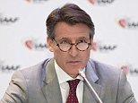 International Association of Athletics Federations (IAAF) President Sebastian Coe addresses a press conference as part of the 202nd IAAF Council meeting in Monaco on November 26, 2015. IAAF president Sebastian Coe bowed to intense pressure and announced today that he had stepped down from his paid role as an ambassador for Nike to focus more on cleaning up world track and field's beleaguered governing body. AFP PHOTO / BERTRAND LANGLOIS / AFP / BERTRAND LANGLOIS        (Photo credit should read BERTRAND LANGLOIS/AFP/Getty Images)