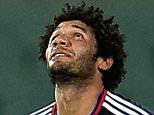 Basel's midfielder Mohamed Elneny celebrates after scoring during the UEFA Europa League football match between Fiorentina and Basel on September 17, 2015, at the Artemio Franchi Stadium in Florence.  AFP PHOTO / TIZIANA FABI        (Photo credit should read TIZIANA FABI/AFP/Getty Images)