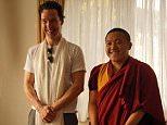 Benedict Cumberbatch at Shechen Monastery in Nepal