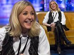 Embargoed until 00:01 Friday 8th Jan 2016 - Editorial Use Only. No Merchandising Please note: Exclusive Fees Apply in USA  Mandatory Credit: Photo by Brian J Ritchie/REX/Shutterstock (5519123c)  Ellie Goulding  'The Jonathan Ross Show', London, Britain - 09 Jan 2016