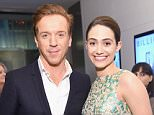 """NEW YORK, NY - JANUARY 07:  Actors Damian Lewis (L) and Emmy Rossum attend the Showtime series premiere of """"Billions"""" at The New York Museum Of Modern Art on January 7, 2016 in New York City.  (Photo by Michael Loccisano/Getty Images for Showtime)"""