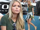 Danielle Knudson was seen at the Brisbane International tennis tournament to support her partner, Canadian Milos Raonic who was playing Against Franchman Lucas Pouille in the tournament, Brisbane, Australia, 8, January 2016.