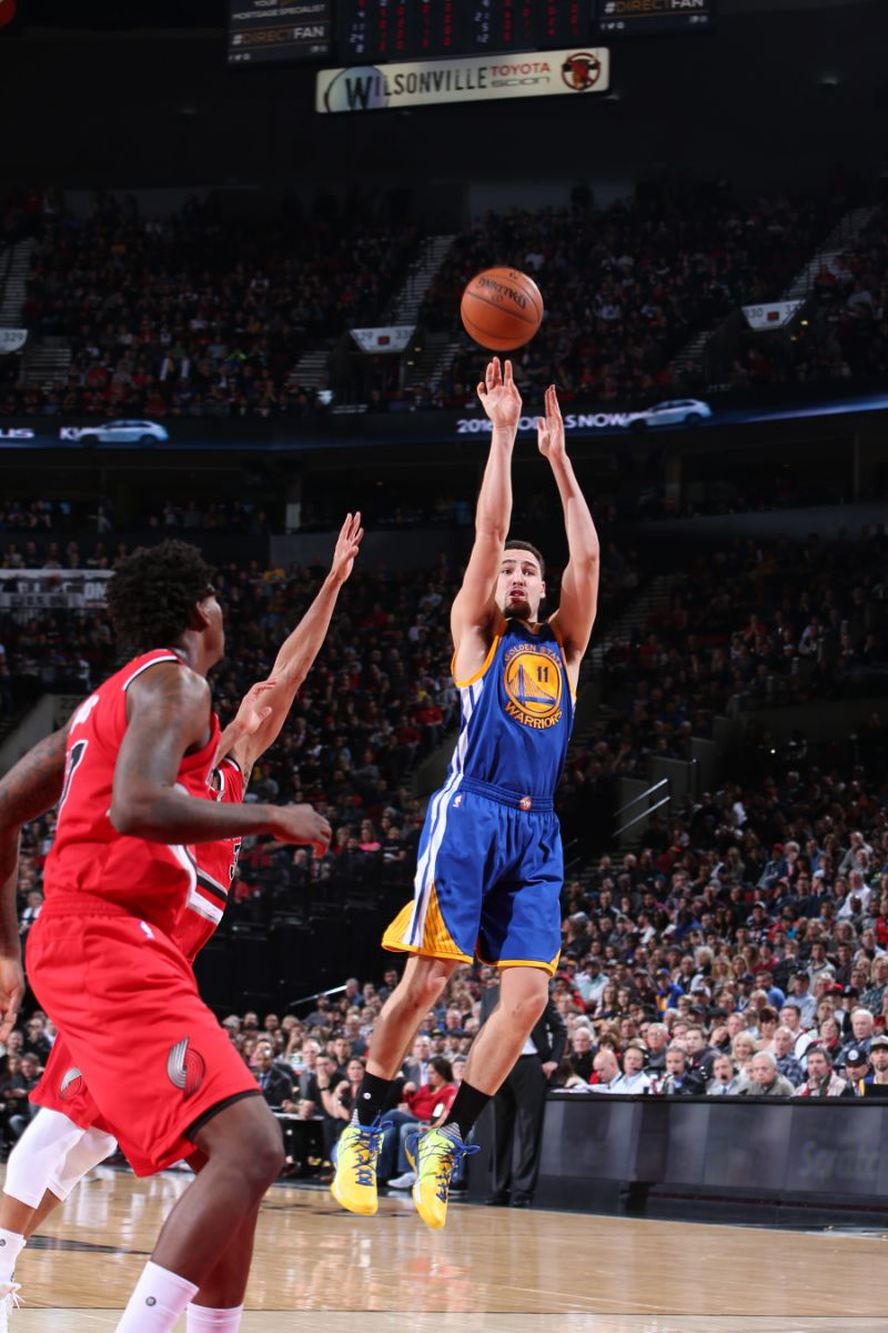Thompson leads Warriors to 128-108 win over the Blazers