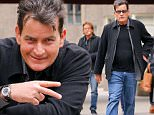 EXCLUSIVE: Charlie Sheen spotted throwing a peace sign while all smiling in New York City, the actor was heading to Il Gattopardo restaurant with some friends\n\nPictured: Charlie Sheen\nRef: SPL1204891  080116   EXCLUSIVE\nPicture by: Felipe Ramales / Splash News\n\nSplash News and Pictures\nLos Angeles: 310-821-2666\nNew York: 212-619-2666\nLondon: 870-934-2666\nphotodesk@splashnews.com\n