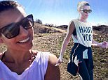 Picture Shows: Lea Michele  January 08, 2016\n \n Actress Lea Michele goes on a hike in the hills of Los Angeles, rocking a tank top that says 'Haute Yoga'.\n \n Exclusive All Rounder\n UK RIGHTS ONLY\n Pictures by : FameFlynet UK © 2016\n Tel : +44 (0)20 3551 5049\n Email : info@fameflynet.uk.com