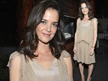 WEST HOLLYWOOD, CA - JANUARY 08:  Katie Holmes attends Photographs by Kelly Klein Hosted by Barry Diller and Jason Weinberg at BOA Steakhouse on January 8, 2016 in West Hollywood, California.  (Photo by Donato Sardella/Getty Images for Untitled)