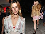 West Hollywood, CA - Tallulah Willis and her sister Scout joined friends for a night out at The Nice Guy in West Hollywood. Tallulah wore a fuzzy white coat with a pair of knee high black socks and silver shoes; while her older sister wore a fur coat over a sheer dress and lacy up platform heels. AKM-GSI       January 7, 2016 To License These Photos, Please Contact : Steve Ginsburg (310) 505-8447 (323) 423-9397 steve@akmgsi.com sales@akmgsi.com or Maria Buda (917) 242-1505 mbuda@akmgsi.com ginsburgspalyinc@gmail.com