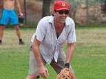 "*EXCLUSIVE* *SHOT ON 9/12/15* North Hollywood, CA - 'Mad Men' star Jon Hamm finds time to play a friendly baseball game with friends near Hollywood. Jon, 44, and ex Jennifer Westfeldt, 45, announced their separation earlier this week - just months after the hunk publicly thanked the actress-and-director for helping him overcome alcohol abuse. In a statement, they said: ""With great sadness, we have decided to separate, after 18 years of love and shared history. ""We will continue to be supportive of each other in every way possible moving forward."" Jon completed a 30-day stint in rehab earlier this year after battling alcohol abuse. The actor's representative said at the time: ""With the support of his longtime partner Jennifer Westfeldt Jon Hamm recently completed treatment for his struggle with alcohol addiction. They have asked for privacy and sensitivity going forward.""\n\nAKM-GSI       September 13, 2015\n\nTo License These Photos, Please Contact :\n\nSteve Ginsburg\n(310) 505-8447\"
