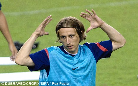 On the move: Luka Modric is set to sign for Real Madrid this weekend