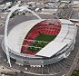Aerial view of Wembley Stadium which will host football events during the London 2012 Olympic Games on July 26, 2011 in London, England.  (Photo by Tom Shaw/Getty Images)