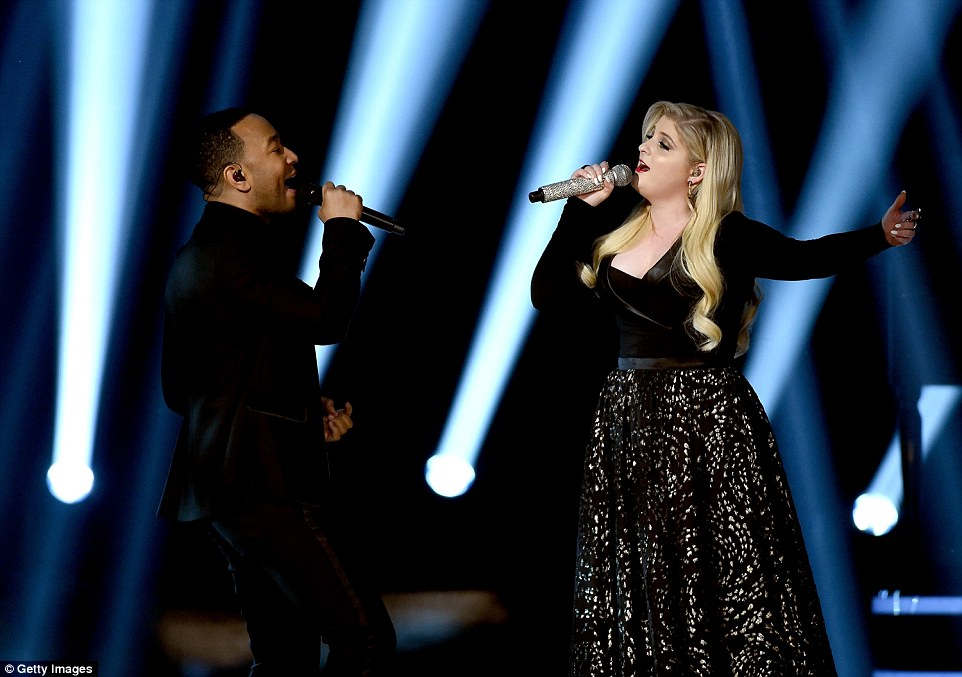 Duet: John Legend and Meghan Trainor belted out a song together