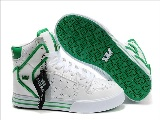Supra Vaider For Mænd White Leather Green Lace Sko - Boutique