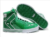 Supra Vaider For Mænd Shiny Green Patent Leather Ventilate Sko - Boutique