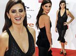 11.JANUARY.2016 - MADRID ñ SPAIN\n*** STRICTLY AVAILABLE FOR UK AND GERMANY USE ONLY ***\nPENELOPE CRUZ LOOKS GREAT IN A BLACK DRESS AS SHE ARRIVES AT THE 2016 JOSE MARIA FORQUE AWARDS AT THE PALACIO MUNICIPAL DE CONGRESOS. \nBYLINE MUST READ : AKM-GSI-XPOSURE\n***UK CLIENTS - PICTURES CONTAINING CHILDREN PLEASE PIXELATE FACE PRIOR TO PUBLICATION ***\n*UK CLIENTS MUST CALL PRIOR TO TV OR ONLINE USAGE PLEASE TELEPHONE 0208 344 2007*