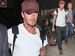 Picture Shows: David Beckham  January 11, 2016\n \n British soccer player David Beckham was spotted arriving at LAX airport in Los Angeles, California. David was returning back from London after celebrating the New Year with family. \n \n Non-Exclusive\n UK RIGHTS ONLY\n \n Pictures by : FameFlynet UK © 2016\n Tel : +44 (0)20 3551 5049\n Email : info@fameflynet.uk.com