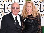 Mandatory Credit: Photo by David Fisher/REX/Shutterstock (5528305dj)  Rupert Murdoch and Jerry Hall  73rd Annual Golden Globe Awards, Arrivals, Los Angeles, America - 10 Jan 2016