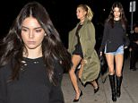 Super model Kendal Jenner wearing short denim shorts and knee high designer boots along with good friend Hailey Baldwin were seen arriving at 'The Nice Guy' Bar in West Hollywood, CA\n\nPictured: Hailey Baldwin\nRef: SPL1207985  120116  \nPicture by: SPW / Splash News\n\nSplash News and Pictures\nLos Angeles: 310-821-2666\nNew York: 212-619-2666\nLondon: 870-934-2666\nphotodesk@splashnews.com\n