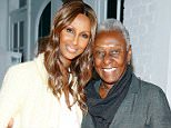 "NEW YORK, NY - APRIL 05:  Model Iman and Bethann Hardison  attend ""Dr. Hawa Abdi Foundation: Through The Fire"" benefit screening at Culture Project on April 5, 2014 in New York City.  (Photo by John Lamparski/WireImage)"