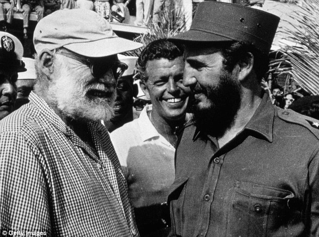 Revolutionaries: Ernest Hemingway meets Fidel Castro in Cuba after the then president won a fishing competition that Hemingway has sponsored