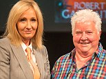 Author JK Rowling as her alto ego Robert Galbraith, as she attends the Theakstons Old Peculier Crime Writing Festival, hosted in Harrogate with Val McDermid (right).    PRESS ASSOCIATION Photo. Issue date: Saturday July 19, 2014. The event marked the Harry Potter author's first and only UK appearance this year as Robert Galbraith where she talked about her second crime novel - The Silkworm . Photo credit should read: Fenris Oswin/PA Wire.  Handout photo dated 18/7/2014.  NOTE TO EDITORS: This handout photo may only be used in for editorial reporting purposes for the contemporaneous illustration of events, things or the people in the image or facts mentioned in the caption. Reuse of the picture may require further permission from the copyright holder.