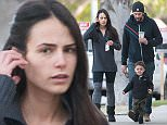 Jordana Brewster and family go for a stroll  Pictured: Jordana Brewster Ref: SPL1207174  110116   Picture by: GONZALO/Bauergriffin.com