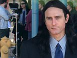 """12.JAN.2016 - HOLLYWOOD - USA\n*STRICTLY AVAILABLE FOR UK AND GERMANY USE ONLY*\n** EXCLUSIVE ALL ROUND PICTURES **\nUS actor James Franco almost looks unrecognizable as on the set of his new film """"The Disaster Artist"""", as Tommy Wiseau.  The young Hollywood actor completely transformed into Tommy's character sporting long dark brown hair and a loose fitting suit.  James was joined by his brother Dave and best pal Seth Rogen who appeared to be working behind the camera today\nBYLINE MUST READ : AKM-GSI/XPOSUREPHOTOS.COM\n***UK CLIENTS - PICTURES CONTAINING CHILDREN PLEASE PIXELATE FACE PRIOR TO PUBLICATION ***\n*UK CLIENTS MUST CALL PRIOR TO TV OR ONLINE USAGE PLEASE TELEPHONE 0208 344 2007*"""