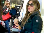 12.JANUARY.2016 - WEST HOLLYWOOD ñ USA\n*** STRICTLY AVAILABLE FOR UK AND GERMANY USE ONLY ***\nA CASUALLY DRESSED SOFIA VERGARA GRIPS HER RED LEATHER COCO CHANEL BAG AS SHE ATTEMPTS TO SNEAK PAST PHOTOGRAPHERS WHILE ENDING SOME SHOPPING AT A FURNITURE STORE IN WEST HOLLYWOOD.\nBYLINE MUST READ : AKM-GSI-XPOSURE\n***UK CLIENTS - PICTURES CONTAINING CHILDREN PLEASE PIXELATE FACE PRIOR TO PUBLICATION ***\n*UK CLIENTS MUST CALL PRIOR TO TV OR ONLINE USAGE PLEASE TELEPHONE 0208 344 2007*
