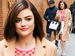 Lucy Hale spotted looking radiant while leaving the View in New York City, the actress was wearing a camel coat with white skirt and red top with silver shoes\n\nPictured: Lucy Hale\nRef: SPL1207601  120116  \nPicture by: Felipe Ramales / Splash News\n\nSplash News and Pictures\nLos Angeles: 310-821-2666\nNew York: 212-619-2666\nLondon: 870-934-2666\nphotodesk@splashnews.com\n