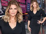 """NEW YORK, NY - JANUARY 05:  Kirstie Alley visits """"Extra"""" at their New York studios at H&M in Times Square on January 5, 2016 in New York City.  (Photo by D Dipasupil/Getty Images for Extra)"""