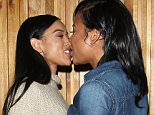 Karrueche Tran And Christina Milian Share A Kiss On The Lips At The Nice Guy Club in West Hollywood  Pictured: Karrueche Tran And Christina Milian Ref: SPL1208237  130116   Picture by: Photographer Group / Splash News  Splash News and Pictures Los Angeles: 310-821-2666 New York: 212-619-2666 London: 870-934-2666 photodesk@splashnews.com